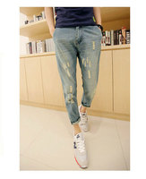 Men's Jeans Casual Stretch Denim Skinny Jeans Trousers Tight Pants Solid Torn Biker Jean Mens Fear Of God Ankle-Length Pants