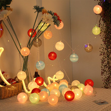 Battery/110V/220V LED Cotton Ball String Home Decoration Lamp 10/20 ball Light Decor Christmas Lights Fairy 25