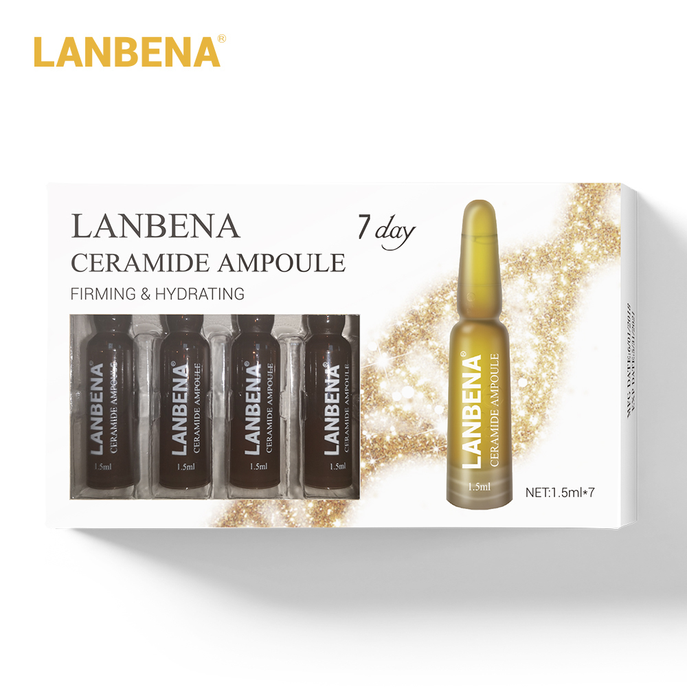 Lanbena Ceramide Ampoule Serum Firming Hydrating Anti aging Lifting Nourishing Anti wrinkle Shrink Pores Skin Care For 7 Days in Serum from Beauty Health