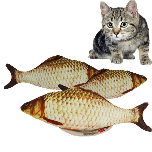 Fish Shape Cat Toys With Catnip