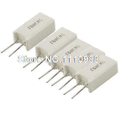5 x 1R Radial 5W Ceramic Resistor 5/%