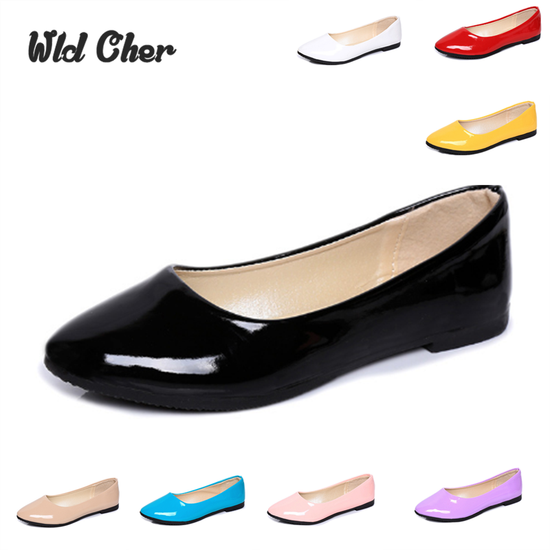 New 2017 Fashion Style Pointed Toe women's Shoes Flats Summer Solid Flat Shoes Woman Candy Color Ballet Shoes Plus Big Size 41 2017 new fashion flats woman spring summer women shoes top quality pointed toe women flats suede comfort flat plus size 40