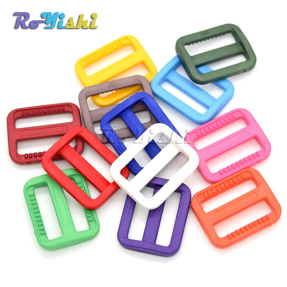 1000pcs/pack 1 (25mm)Colorful Triglides Adjust Buckle For Dog Collar Harness Backpack Strap - 3