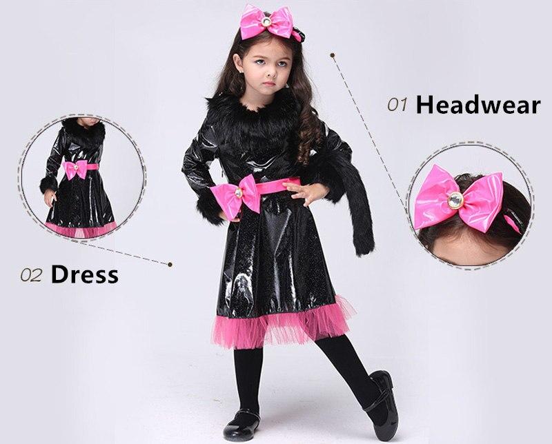baby girls dress cosplay halloween costume cartoon cat girls children halloween dresses kids clothes vestidos menina vestidos in dresses from mother kids - Baby Cat Halloween Costume