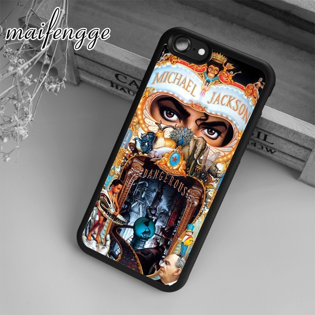 1227befac7 maifengge Michael Jackson Case For iPhone 6 6S 7 8 Plus X 5 5S SE Case