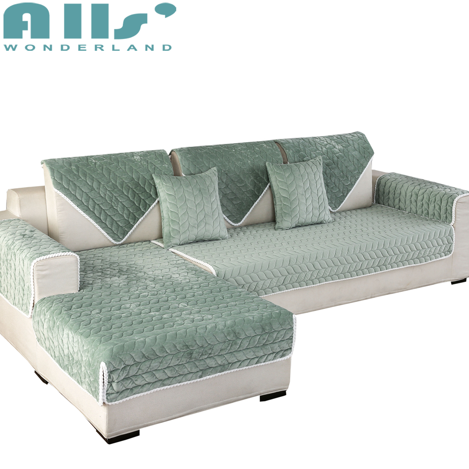 1pc Solid Color Sectional Slipcovers Couch Cover Polyester