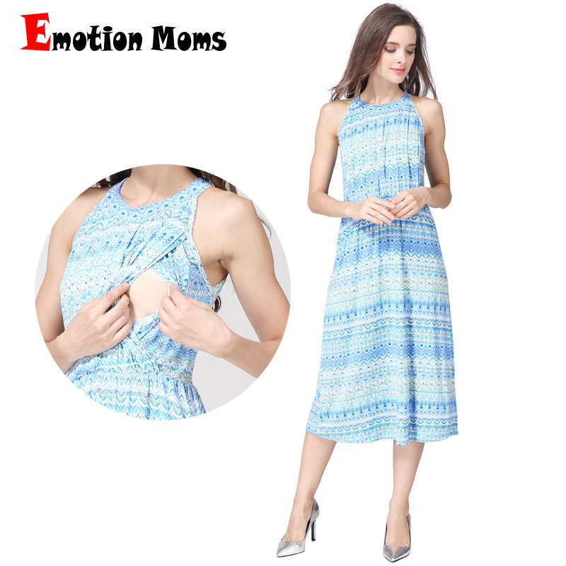 Emotion Moms Fashion Summer Maternity Clothes nursing Dress Breastfeeding Dress for Pregnant Women Maternity Dresses Soft Fabric breastfeeding nursing cover lactating towel breastfeeding cloth used jacket scarf generous soft good quality maternity clothes