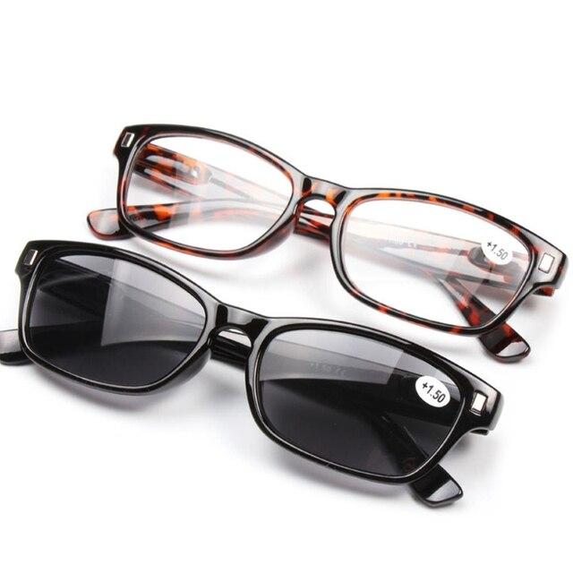 2017 Unisex Reading Glasses Sun Presbyopia Eyeglasses Frame Resin Lens +1.0~+3.5 Gift SEP13_30