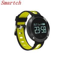 Smartch DM58 smart Сердечного ритма Приборы для измерения артериального давления часы IP68 Водонепроницаемый Спортивный Браслет Смарт Фитнес трекер для iOS