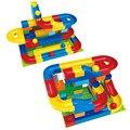 Bloque de construcción para niños conjunto de juguete diy construcción de mármol carrera carrera laberinto bolas de bloques de construcción de pista para niños regalo de cumpleaños