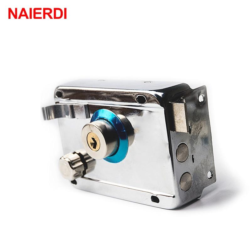 NAIERDI-9331 Exterior Door Locks Security Anti-theft Lock Multiple Insurance Lock Wood Gate Door Lock For Furniture Hardware
