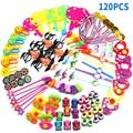120 pçs sortidas presente brinquedos giveaways crianças sacos de goodie prêmios de carnaval festivo hoome festa suprimentos pinata enchimentos presente para crianças