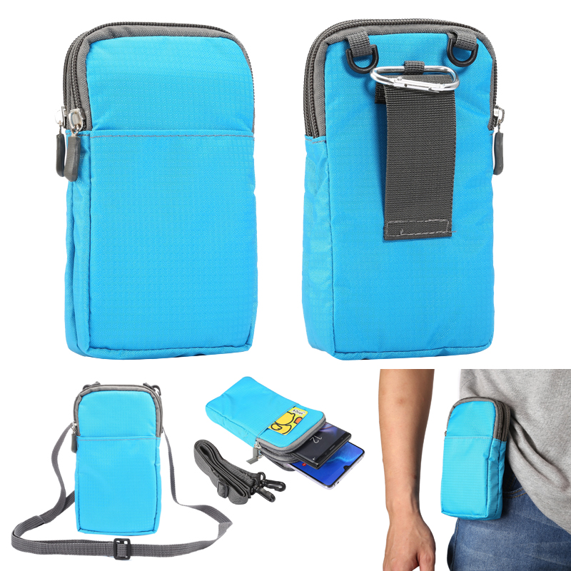 Universal Sports Mobile Phone Wallet Zipper Bag For IPhone 8Plus Pouch Holster Bag Cover Outdoor Waist Bag Case For IPhone XS