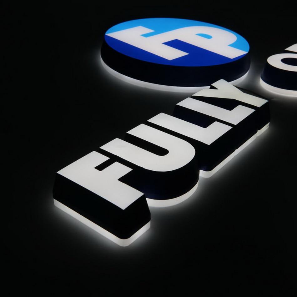 3D Double Sides Lighted Waterproof Led Sign Company Logo Design Led Letter