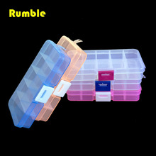 1pcs Plastic 10 Slots Electronic Parts Screws Nuts SMD Jewelry Beads Storage Box Repair Tool Box Case Craft Organizer Container