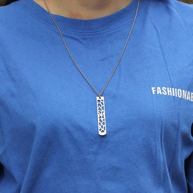New Fashion Flower Pendant Bar Necklace  4