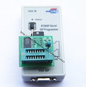 Image 2 - 送料無料 100% origanil 最新 RT809F 液晶 isp プログラマ + 10 アダプタ + sop8 IC テストクリップ + 1.8V アダプタ + TSSOP8/SSOP8 アダプタ