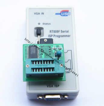 free shipping 100% origanil Newest RT809F LCD ISP programmer+ 10 adapters +sop8 IC test clip + 1.8V Adapter+TSSOP8/SSOP8 Adapter