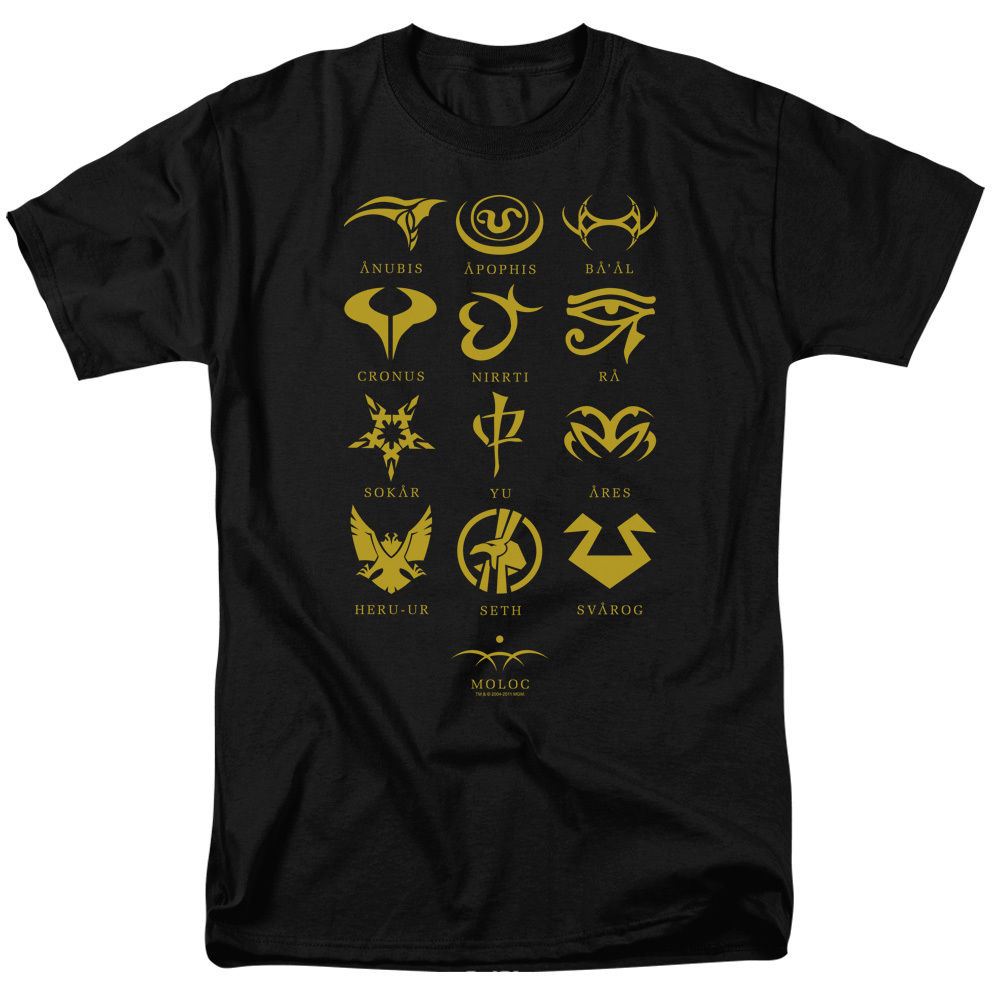 Stargate SG-1 Show GOAULD CHARACTERS Licensed Adult T-Shirt All Sizes