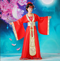 Women Performance Costume Fairy Ancient Princess Classical Hanfu Chinese Folk Dance Traditional Costume Chiffon Dress L103