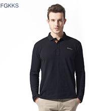 ccce25b642 FGKKS 2018 Nova Marca Camisas Pólo Homens Moda Primavera Mens Polos De  Algodão Outwear Ocasional Qualidade