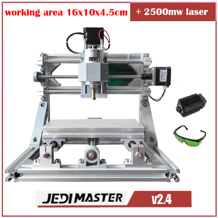 CNC 1610 2500mw laser GRBL Diy mini CNC font b machine b font high power laser