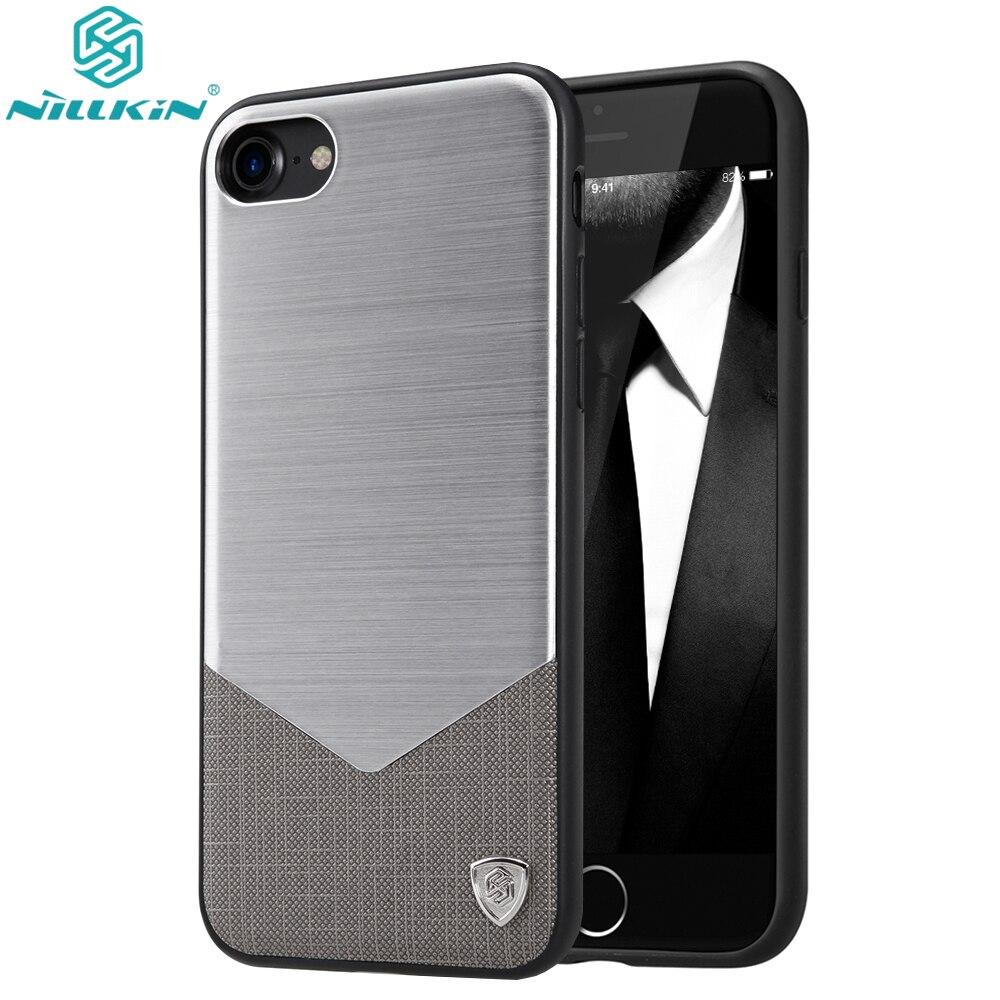 bilder für Für Apple iPhone 7/7 Plus Fall Ursprüngliche Nillkin Aluminium luxus Pu-leder Fällen Für iPhone 7 Plus Telefon Rückblätter
