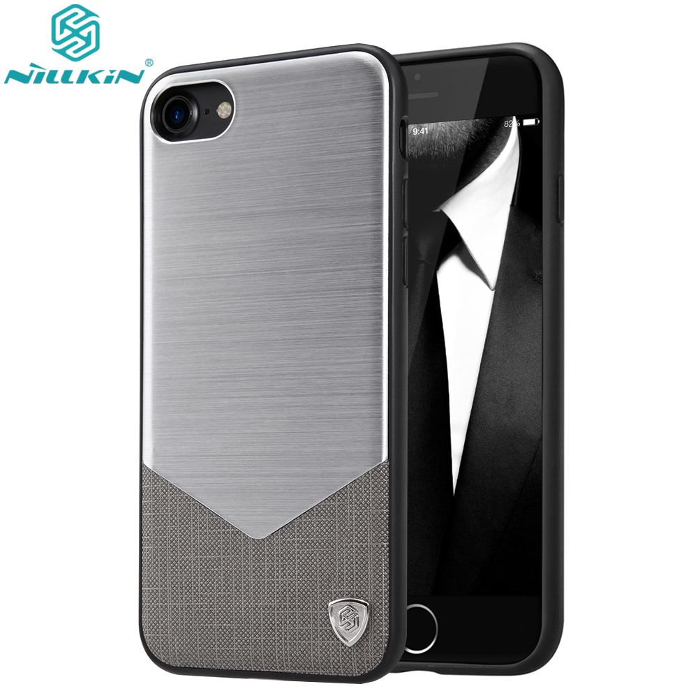 For Apple iPhone 7 / 7 Plus Case Original Nillkin Aluminum Luxury PU Leather Cases For iPhone 7 Plus Phone Back Covers ...