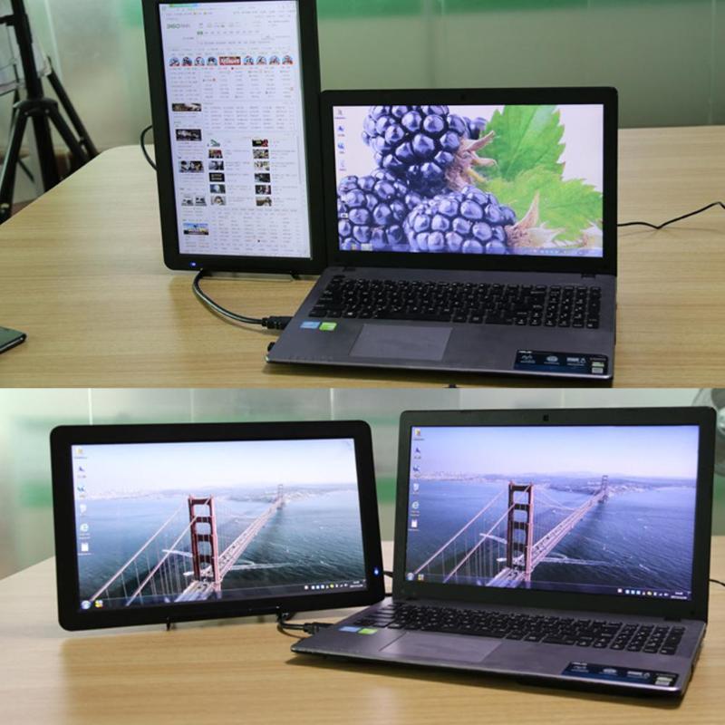 15.6 pouces Super mince IPS LCD écran d'affichage HD 1080 P moniteur Portable pour HDMI PS4 XBOX PS3 PC ordinateur Portable US Plug haute qualité
