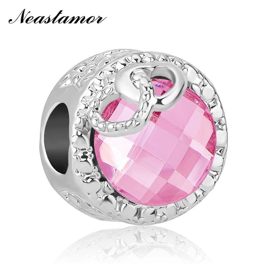 Новинка, бесконечный блеск, милая домашняя бусина, подходит для оригинала Pandora, очаровательный браслет, ожерелье, безделушка, ювелирные изделия для женщин и мужчин, сделай сам - Цвет: A1357 pink