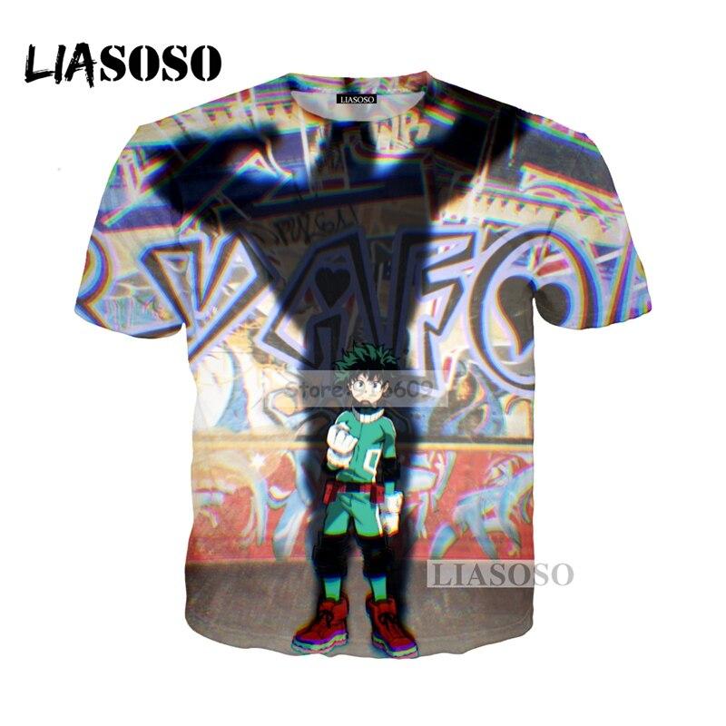 LIASOSO NEW Anime Boku No Hero My Hero Academia Cosplay Tees 3D Print t shirt/Hoodie/Sweatshirt Unisex Good Quality Tops G730