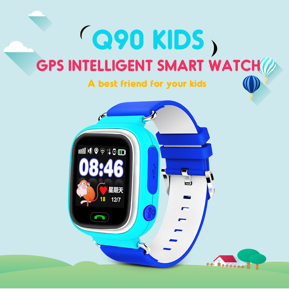 <font><b>Q90</b></font> GPS Children <font><b>Smartwatch</b></font> SOS Call Location WiFi Smart Baby Watch Touch Screen Remote Monitor Anti-Lost Reminder For <font><b>Kids</b></font> image