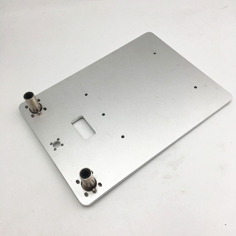 Aluminum heated bed base plate for Replicator 2X clone 3D printer z axis upgrade heated support