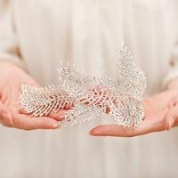 eaf Headband baroque Bridal Hairbands Crown Headpiece Headdress Wedding Hair Accessories Bride Tiara Jewelry