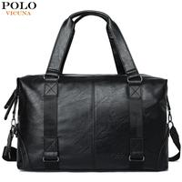 VICUNA POLO Molle Pouch Large Capacity Male Leather Travel Bag Casual Luggage Bag Handbag Multifunction Shoulder Bag Bolsos
