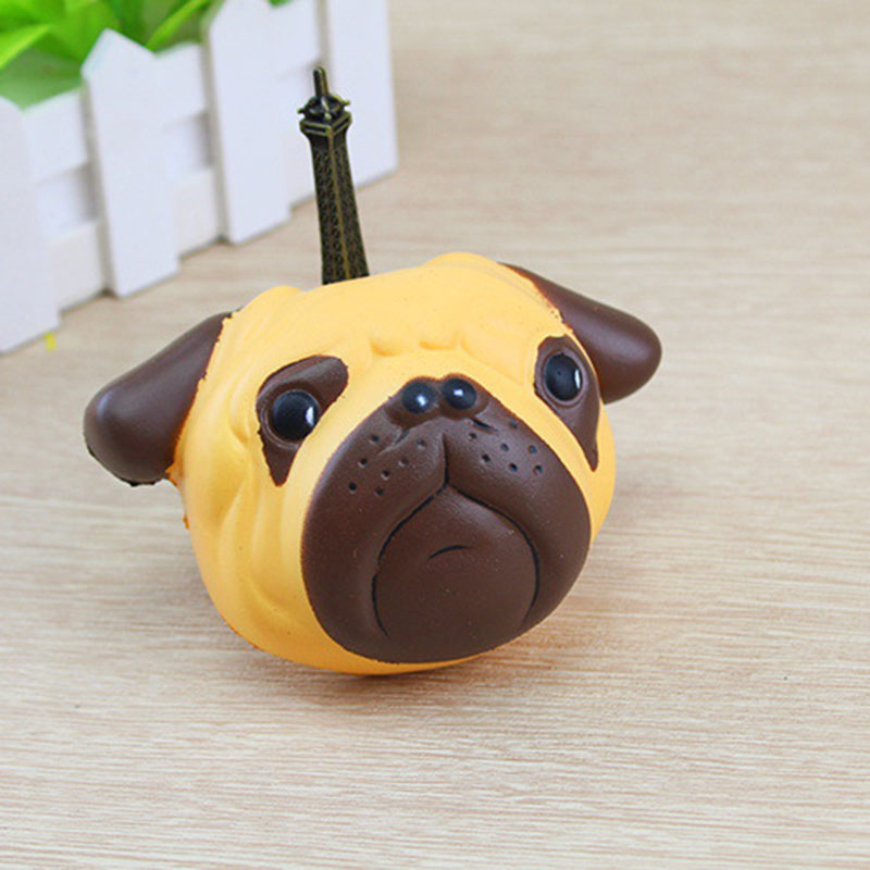 Etmakit Slow Rising Squishy Dog Face Bread 11cm Jumbo Pendant Kawaii Phone Straps Stretchy Squeeze Cream Scented Cake Toy Mobile Phone Straps Mobile Phone Accessories