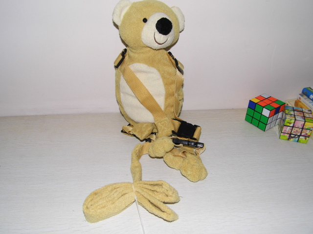 Beige Bear Harness Buddy Animal Reins Goldbugs Harness Buddy Back Packs Plush Toy Backpack Child Walker ...