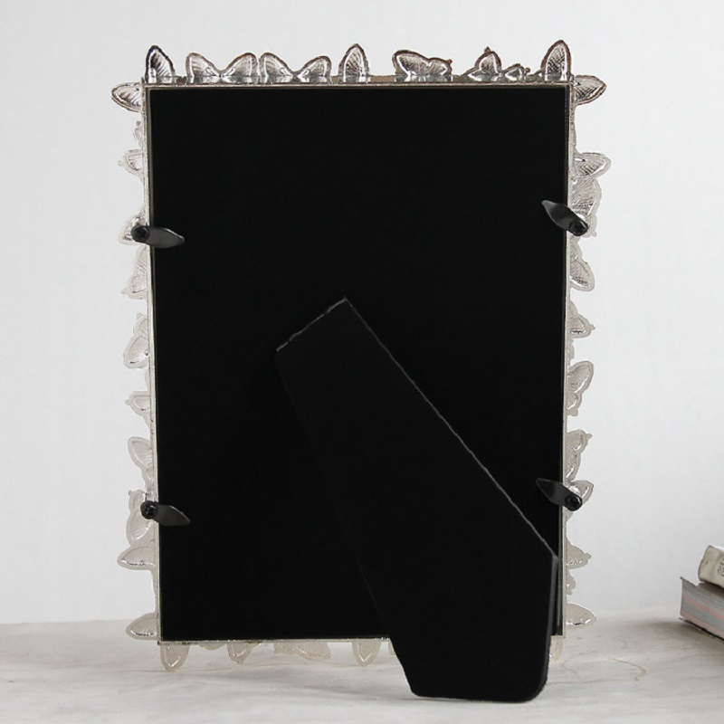 European zinc alloy metal butterfly frame three colors 6 inch7inch 8inch picture frame home decoration wedding present in Frame from Home Garden