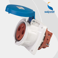 Wholesale Saipwell SP1261 3P 63A IP44 Water dust proof electric extension detachable power sockets box Construction and Chemical