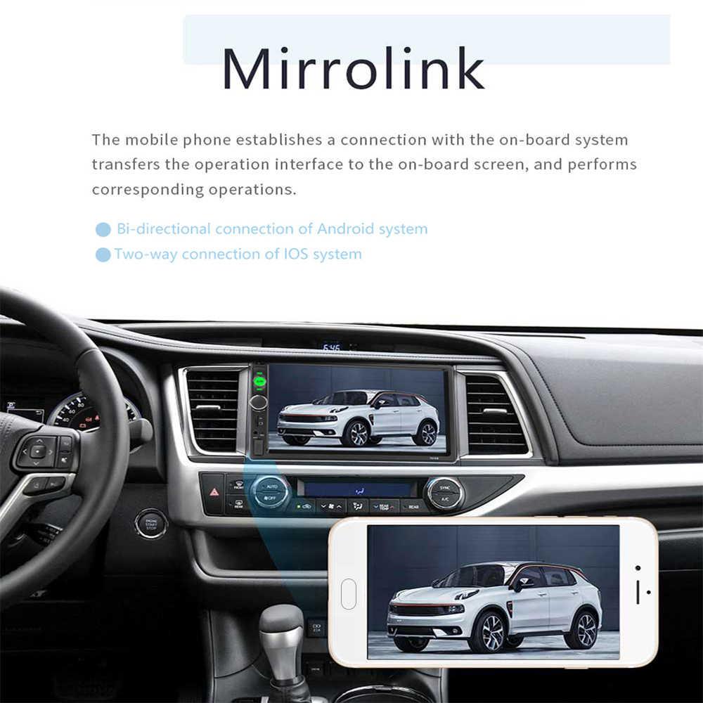 """Podofo 2 din Android 8,1 coche Multimedia reproductor de radio Estéreo 7 """"Video MP5 jugador GPS Bluetooth para Volkswagen Nissan Hyundai Kia"""