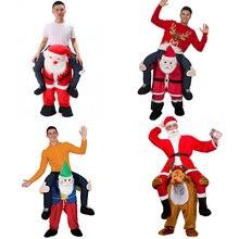Санта Клаус Новинка ездить на меня костюм нести обратно забавные животные лошадей для верховой езды брюки Октоберфест Хэллоуин Одежда для костюмированной вечеринки