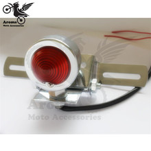 high quality chrome LED Motorcycle Tail Light Lamp for harley motorbike red lighting universal bicycle rear signal brake stop