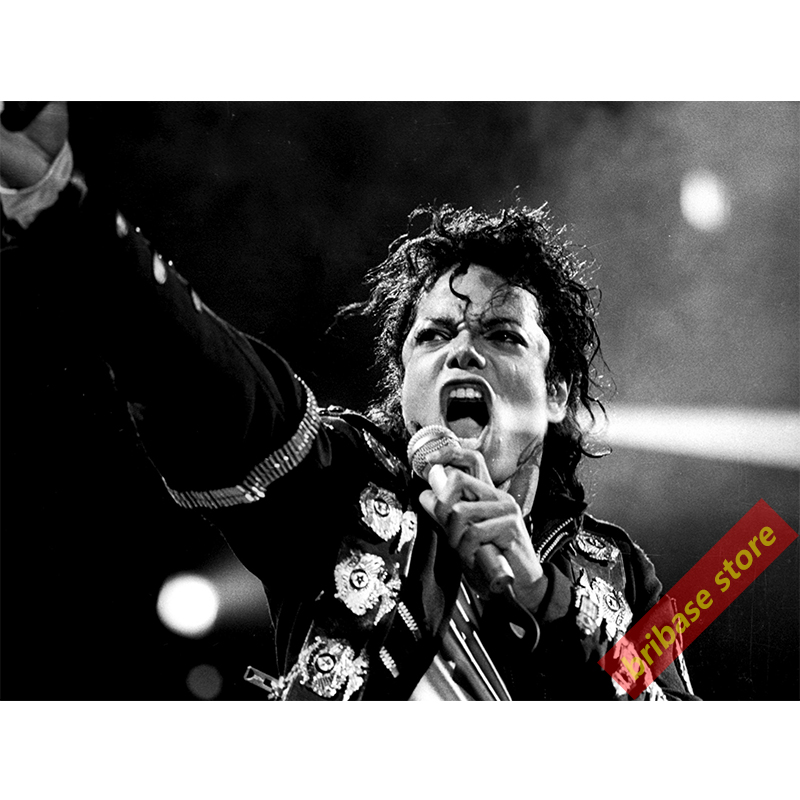 Michael Jackson Posters Photos Philanthropist Singer Black White Pictures Canvas Art Painting By Calligraphy Home Decor In From
