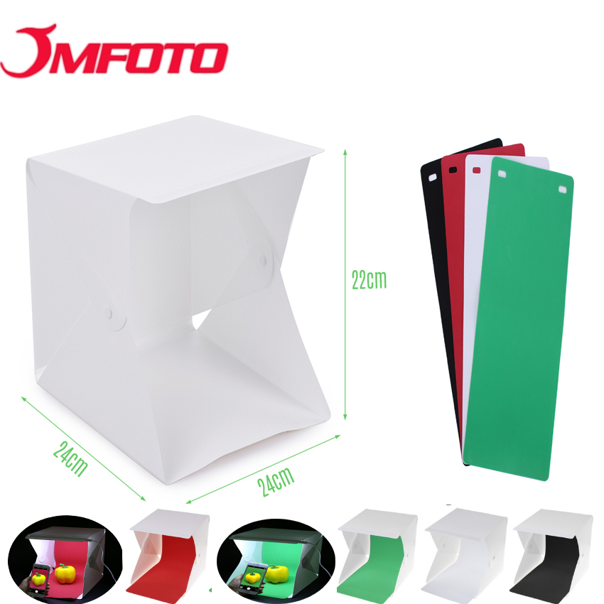 Cooperative Jmfoto Mini Folding Studio Portable Photography Studio Foldable Softbox With Led Light Black White Backgound Soft Lightbox Camera & Photo Accessories