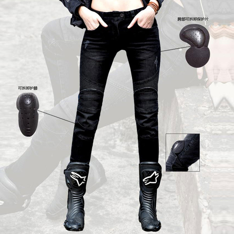 entrega gratuita featherbed ubs02 uglybros motocicleta calca jeans feminina calca jeans calcas calcas de corrida