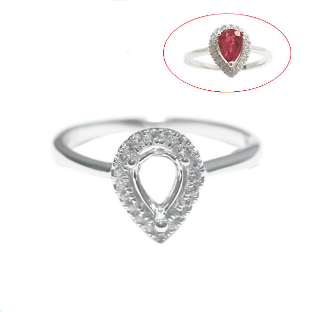 Beadsnice ID27353 2014 New Arrival Popular 925 Silver Rings For Women Elegant Forever Wedding Engagement Setting Semi Ring Mount