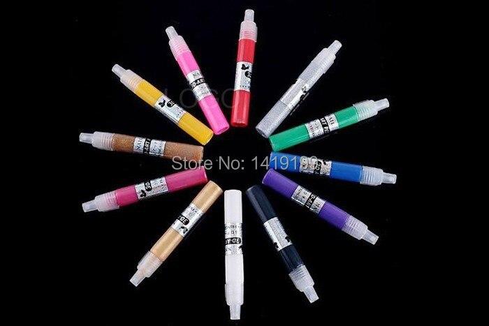 5pcs New Candy Color 3d Nail Art Pen Hot Pro Polish Painting Dot Drawing Uv