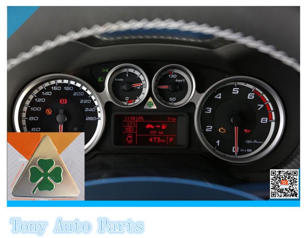 2 шт. мм 159 см 20 мм для Альфа Ромео 2, 0 147 156 166 Джульетта паук GT и четырехлистник зеленый Дельта наклейки логотип автомобиля эмблема значок наклейка