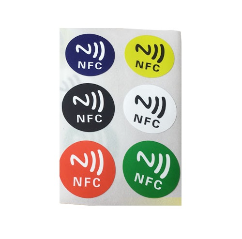 NFC 213 Chip 30mm Universal NFC Sticker 13.56mhz IC Sticker ISO14443A 144byte