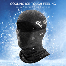 Cooling Ice Silk Bandana On Face Cycling Mask For Bicycle UPF50+ Helmet Liner Balaclava Summer UV Protection